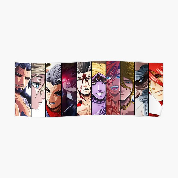 Record Of Ragnarok all Characters Poster RB1506 product Offical Berserk Merch