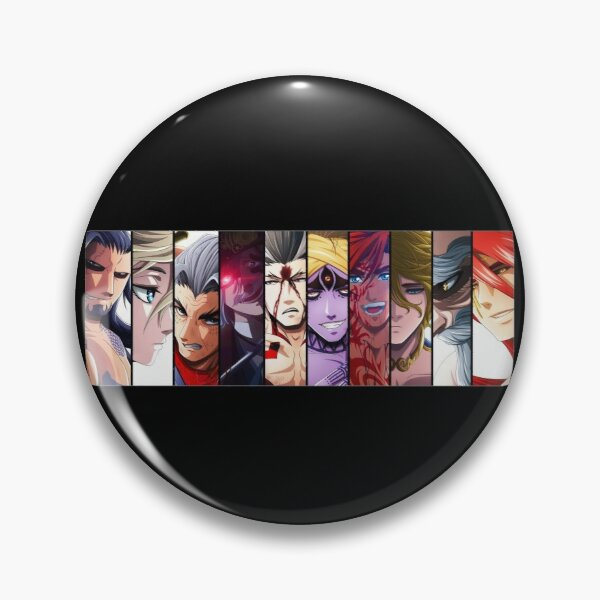 Record Of Ragnarok all Characters Pin RB1506 product Offical Berserk Merch